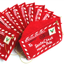 Wholesale hot New arrival Christmas tree decorations Xmas ornaments red Envelope cards candy Bag home creative wedding decor