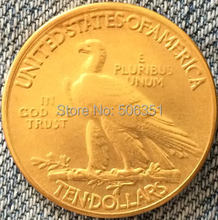 24- K gold plated 1933 Indian head $10 gold coin COPY FREE SHIPPING