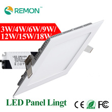 3w 4w 6w 9w 12w 15w 18w LED Panel Light Square LED Recessed Ceiling Lamp Bulbs Warm Cold White Spot LED Lighting Fixtures