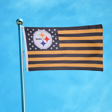 High Quality144x96cm Polyester Cloth Pittsburgh Steelers star stripe Premium Football Team Flag Party Festival Banner Home Decor(China)