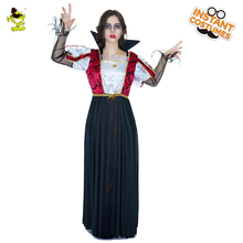 Royal Vampire Costumes For Women's Sexy Halloween Costumes Black Evil Queen Fancy Dress Costume(China)