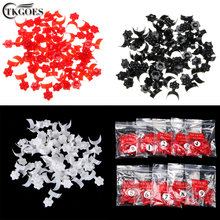 TKGOES 500 PCS White/Red/Black 10size French Star Style False Acrylic Nail Art Tips Set PE Plastic French Nail Tips