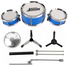 3 Pieces Kids Drum Set Children Junior Drums Kit Simulation Jazz Drums Percussion Musical Instrument Develop Intelligence Toys(China)