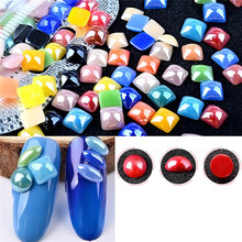 Multicolor Pearl Nail Art Stone Different Size Wheel Rhinestones Beads 2017 Hot product discount beauty(China)
