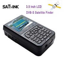Original Satlink WS-6906 DVB-S FTA Digital Satellite Signal 3.5 inch LCD WS 6906 satellite Finder Meter with Bulit-in Battery