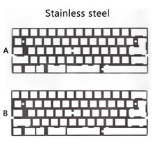 Alu plate dz60 plate for DIY mechanical keyboard Stainless steel plate gh60(China)