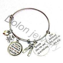 Dance Like No One Is Watching Bracelet-Gift for Dancer-I Will Try Harder Next Year Inspirational Wire Bangle Bracelet(China)