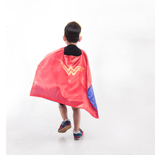 70*70cm Children Kid Wonder Woman Cape with Mask Super Hero Superhero Capes Mantle Cloak for Girl Boy Free Shipping(China)