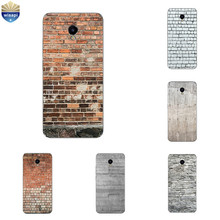 For Meizu MX5 MX6 Silicone Phone Case for Meizu M2 Mini Back Cover Ultra Thin for Meilan M3E Metal TPU Shell Brick Pattern