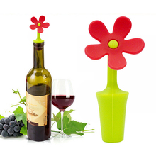 Flower Shape 3Pcs/Set Wine Stopper Silicone Wine Champagne Bottle Stoppers For Home Kitchen Bar P50(China)