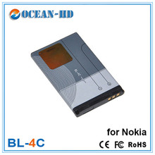 Newest  High Capacity BL-4C 4C Lithium Mobile Phone Battery Accessories Replacement For Nokia 6300 X2 6100 6066 6103 6131 860mah