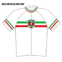 2017 cycling jersey white Italy pro team racing NOWGONOW road MTB bike wear bicycle clothing Ciclismo Retro green red white line