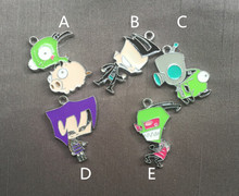 mix  Anime Cartoon Enamel Metal Charm Pendants DIY Jewelry Making Mobile Phone Accessories p003