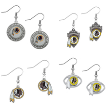 5Pairs American Football Washington Redskins Sport Team Dangle Earrings Jewelry For Fans Gift