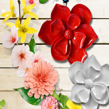 Resin flower, three-dimensional wall stickers, Home Furnishing Decor
