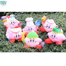 New Super Mario STAR Kirby Keychain Popopo Key Rings 13-20cm Plush Doll Lovely Kids Gift