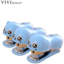 Vividcraft School Supplies Mini Stapler Set With 1000 pcs/Pack 10# Staples Paper Binding Tools Stationery Office Accessories(China)