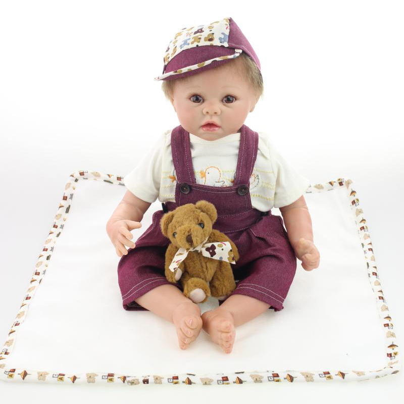 UCanaan 50-55CM Silicone Reborn Baby Dolls Realistic Hobbies Handmade Baby Reborn Alive Dolls For Girls Safe Training Toys<br><br>Aliexpress