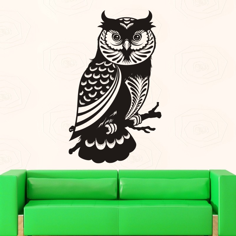 DCTAL Owl Wall Sticker Chouette Decal Posters Vinyl Wall Art Decals Pegatina Car Decal Decor Mural Animal Sticker