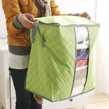 Retail Hot Sale Storage Bag Box Portable Organizer Non Woven Underbed Pouch Storage Box Bamboo Clothing Storage Bag