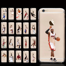2017 NBA Basketball Leborn James Slim Hard PC Matte Case For iPhone5 5s 6 6s 6Plus Scratch Resistant Silicon Back Panel Cover