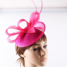 17 colors high quality sinamay material fascinator base headwear cocktail headpiece race derby hat suit for all season FNR151241(China)