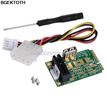 Mini PCI-E to USB2.0 PCI-E1x Board Adapter PCI Express Interface Card 4pin Power #H029#