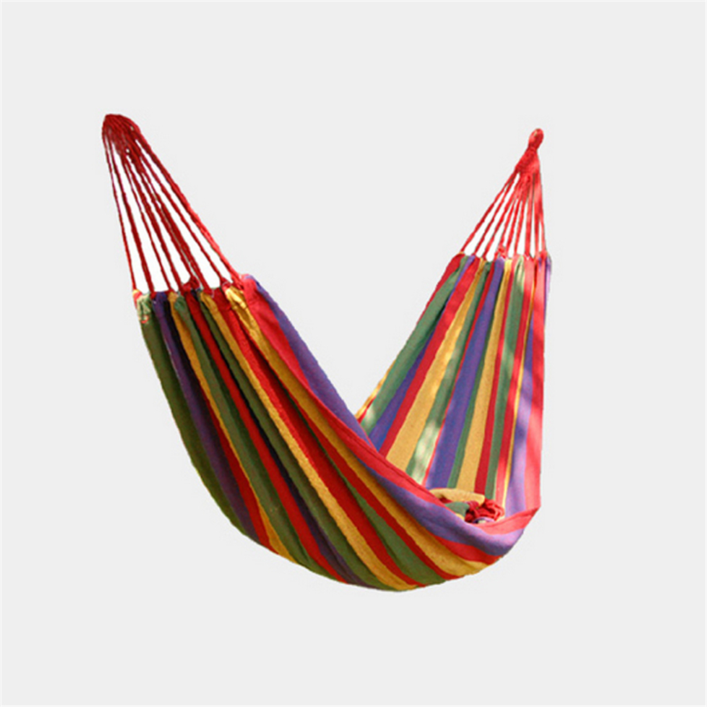 Portable Travel Sleeping Outdoor Garden Hammock Hang BED Travel Camping Swing Canvas Stripe<br><br>Aliexpress