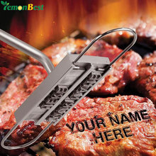 Personality Steak Meat Barbecue BBQ Meat Branding Iron With Changeable 55 Letters BBQ Tool Barbecue Accessories Cooking Tools(China)