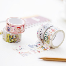 20mm X 7m Cute Lotkawaii Girl Animals Nature Decorative Washi Tape Diy Scrapbooking Masking Paper Tape School Office Supply