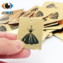 The new clothing label gold princess dress skirt spot tag women 's clothing children' s clothing tag - made