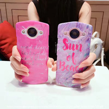 Letters Cases For Meitu T8 Laser Visual Effects Hard PC Half-wrapped Cases For Meitu T8 Anti-knock Back Cover Capa Coque(China)