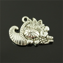 30pcs 28*20mm Antique Silver Color Cornucopia Charms, Fashion Diy Handmade Craft Jewelry Finding(China)