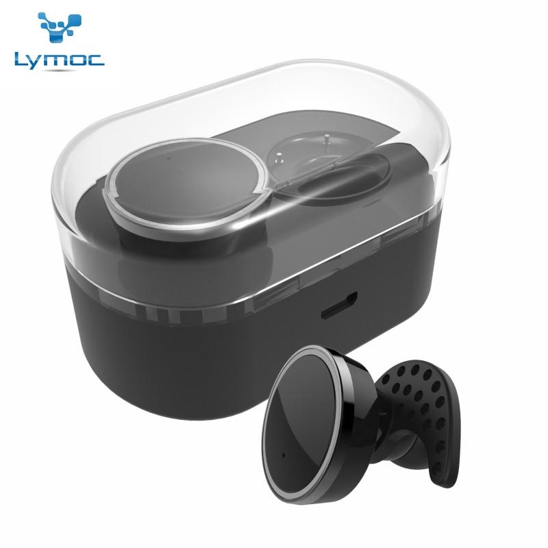 New Twins True Wireless Earphone Box IN-Ear Handfree Bluetooth Headset Heavy Bass MIC for iPhone 7 plus XiaoMi HuaWei<br><br>Aliexpress