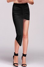 New 2015 Mini Skirt Women Sexy Fashion Skirt Summer Bodycon Skirts Casual High Low Wrapped Solid Mini Skirt 38
