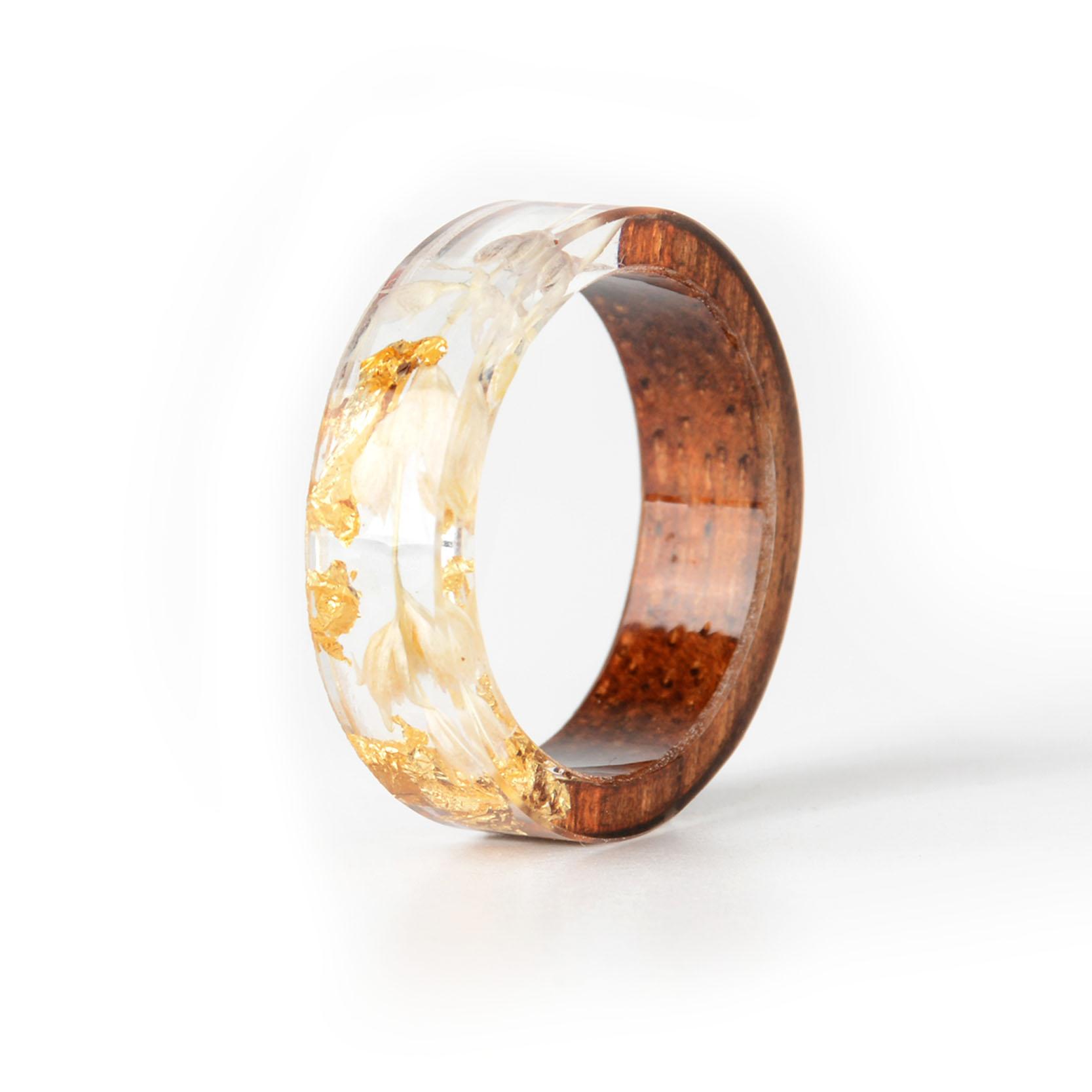 Handmade Wood Resin Ring Many Styles 29