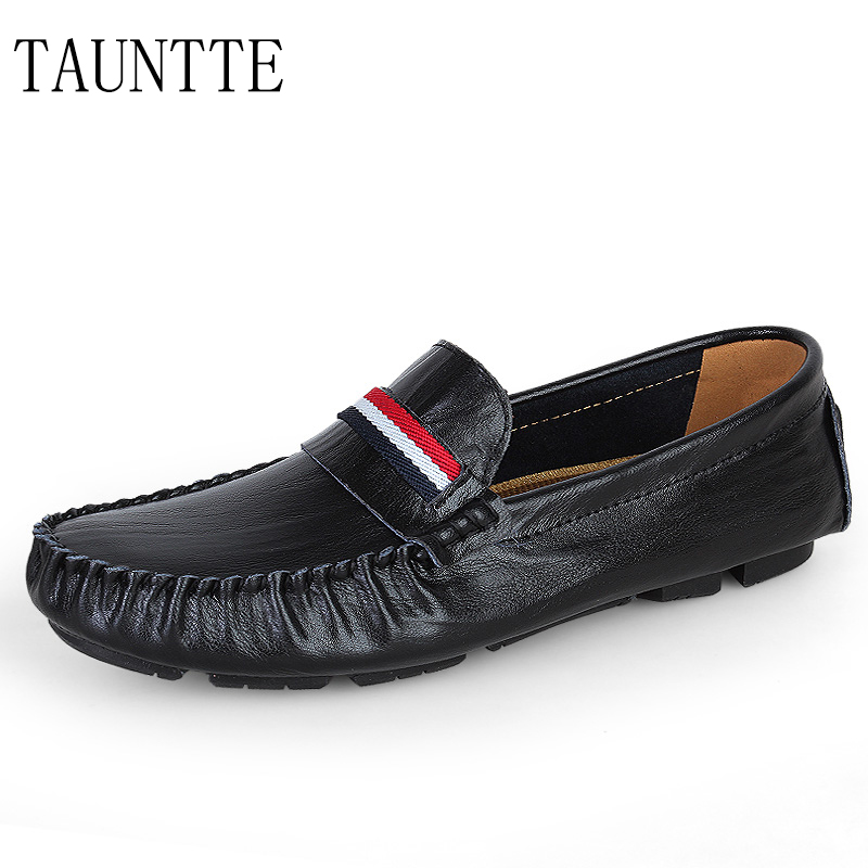 Fashion Breathable Men Genuine Leather Loafers Waterproof Anti-Slip Driving Casual Shoes Plus Size<br>