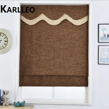 Window Blackout linen Roman Blinds Shades Curtain(Chain control)finished blinds,Contact us for more sizes or colors(China)