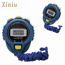 New Sports Stopwatch Professional Clock Handheld Digital LCD Sports Stopwatch Chronograph Counter Timer With Strap Saat