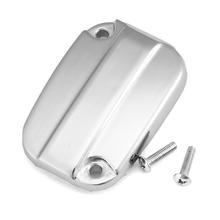 Chrome Motorcycle Bike Front Brake Fluid Reservoir Oil Cap Cover for Harley Davidson Electra Glide Road King 2007-2012