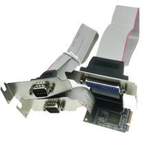 MINI PCI-e to RS232 serial parallel port adapter mini pcie to COM port expansion card PCI-e to RS232 serial parallel PCMM2S1P(China)