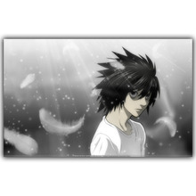 Death Note Anime Cartoon Poster Home Decorative L Silk Wallpaper Wall Art DM303(China)