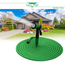 TALL TOP HOT SALE 25FT-100FT Garden Hose Expanding Magic Flexible Plastic Water Hose Pipe With Spray Gun Tube Hoses for Watering(China)