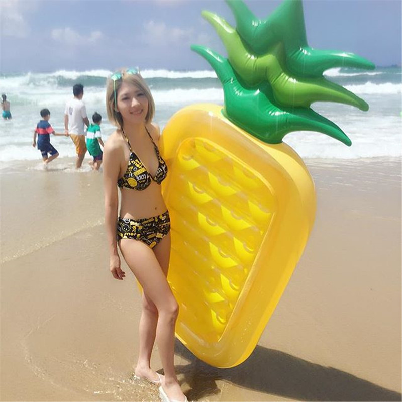 Inflatable Pool Float Pineapple Swimming Ring Child&amp;Adult Water Toy boia piscina Floating Island Water Boat Toy Air Mattresses<br>