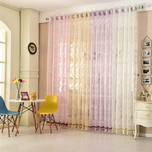 Slow Soul White Pink Beige Purple European Gold Jacquard Curtain Living Room CurtainsTulle For Bedroom Kitchen Cortinas Sheer(China)