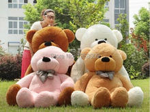 "hot sale 6 FEET TEDDY BEAR STUFFED LIGHT BROWN GIANT JUMBO 72"" size:180cm birthday gift"
