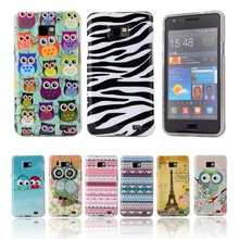 Fashion Lovely Cartoon TPU Silicone Soft Case For Samsung Galaxy S2 SII I9100 S 2 S II Back Cover Cell Phone Protective Bags