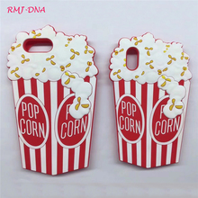 Latest Cartoon 3D Popcorn phone Case for iphone X 8 6 6 S 7 plus Silicone Cover Back For Apple iphoneX 6 6 s phone cases Coque