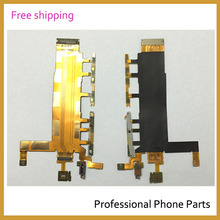 100% Original New Power Switch microphone Flex Cable For Sony Xperia Z3 Dual D6633 Parts In Mobile Phone(China)