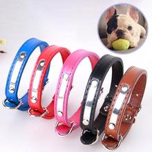 PU Leather Cat Dog Collar Neck Strap Dogs Collar Name ID Tag Telephone Number Engraving Pet Puppy Teddy Collars Red/Blue/Black
